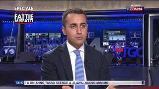 Luigi Di Maio a Fatti e Misfatti Tgcom24 10/1/2018