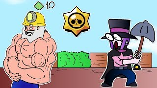 BRAWL STARS ANIMATION: DYNAMIKE VS MORTIS (SHOWDOWN)