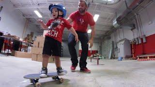 2 year old skateboarder 10 trick challenge