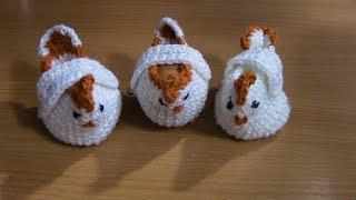 Вязание курочки для пасхальных яиц полустолбиками с одним накидом