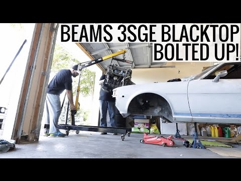 Beams 3SGE Officially Bolted Up! - RA24 Toyota Celica Project