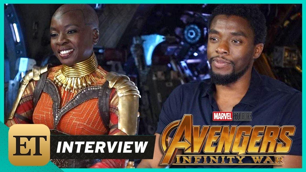 avengers: infinity war': chadwick boseman and danai gurira (full