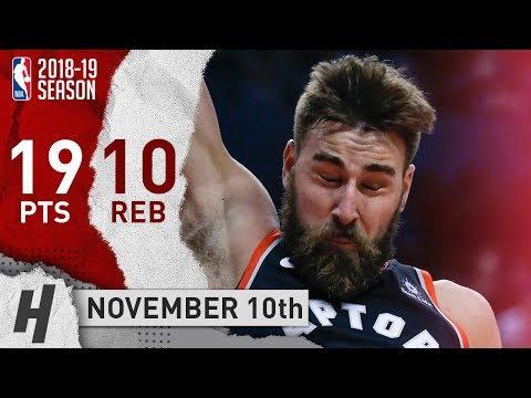 Jonas Valanciunas Full Highlights Raptors vs Knicks 2018.11.10 - 19 Pts, 10 Rebounds!