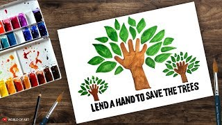 World Environment day 2018 theme and slogan | Drawing for kids ,  Environment day