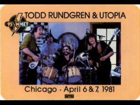 TODD RUNDGREN / UTOPIA AUDITORIUM THEATER CHICAGO 4-7-81
