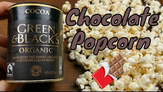 How To Make Real Chocolate Air Popped Healthy Popcorn