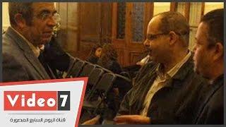 بالفيديو.. أكرم القصاص وعبد الفتاح عبد المنعم وعبد الحليم قنديل فى عزاء إدوار الخراط
