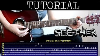 Cómo tocar Broken de Seether feat Amy Lee (Tutorial de Guitarra) / (How to play)