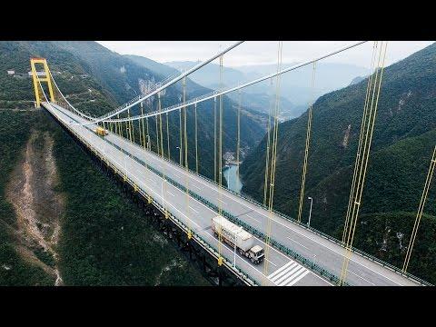 1600 foot (496m) Rope swing in China: Siduhe Bridge | DROPROPE