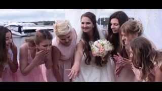 Красивая свадьба в яхт клубе Галс  Антон и Ксения  11 09 2015г