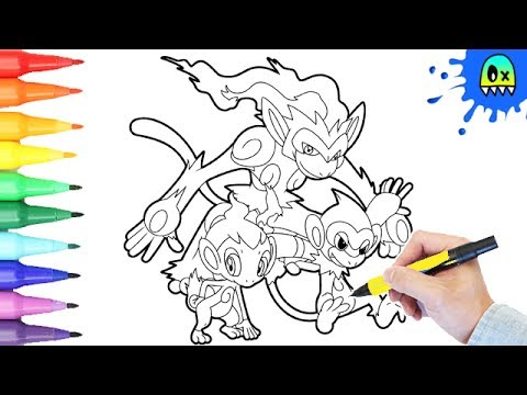 pokemon coloring pages chimchar evolution i fun coloring videos for kids