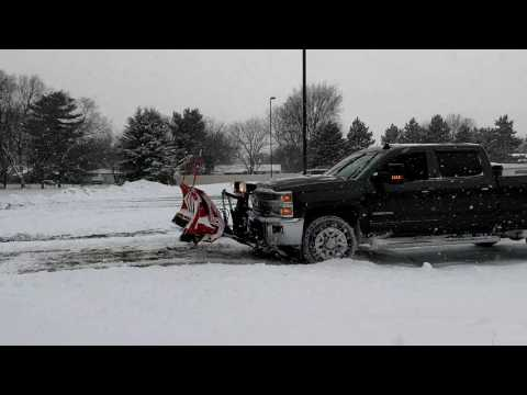 2016 Chevrolet 3500 HD Silverado Plowing Snow Dec 11 2016