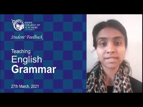 Asian College of Teachers Review Jeyanthi | Teaching English Grammar