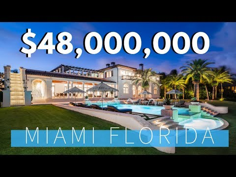 Mega Mansion Offered at $48,000,000 in Miami, Florida STUNNING!!