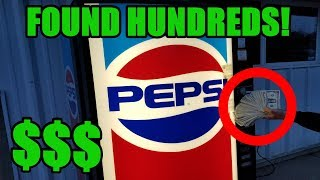 FOUND HUNDREDS IN ABANDONED VENDING MACHINE!! Breaking into abandoned vending machine FULL of money!