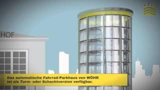 Bicycle parking automatic German Quality- Automatisches Fahrrad-Parkhaus