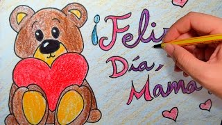 REGALO PARA EL DIA DE LA MADRE: Dibuja tu tarjeta para el dia de la madre