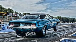 1970 Plymouth Hemi Cuda Drag Racing 572 Ci 800+ Hp (Helmet and Fender Cam)