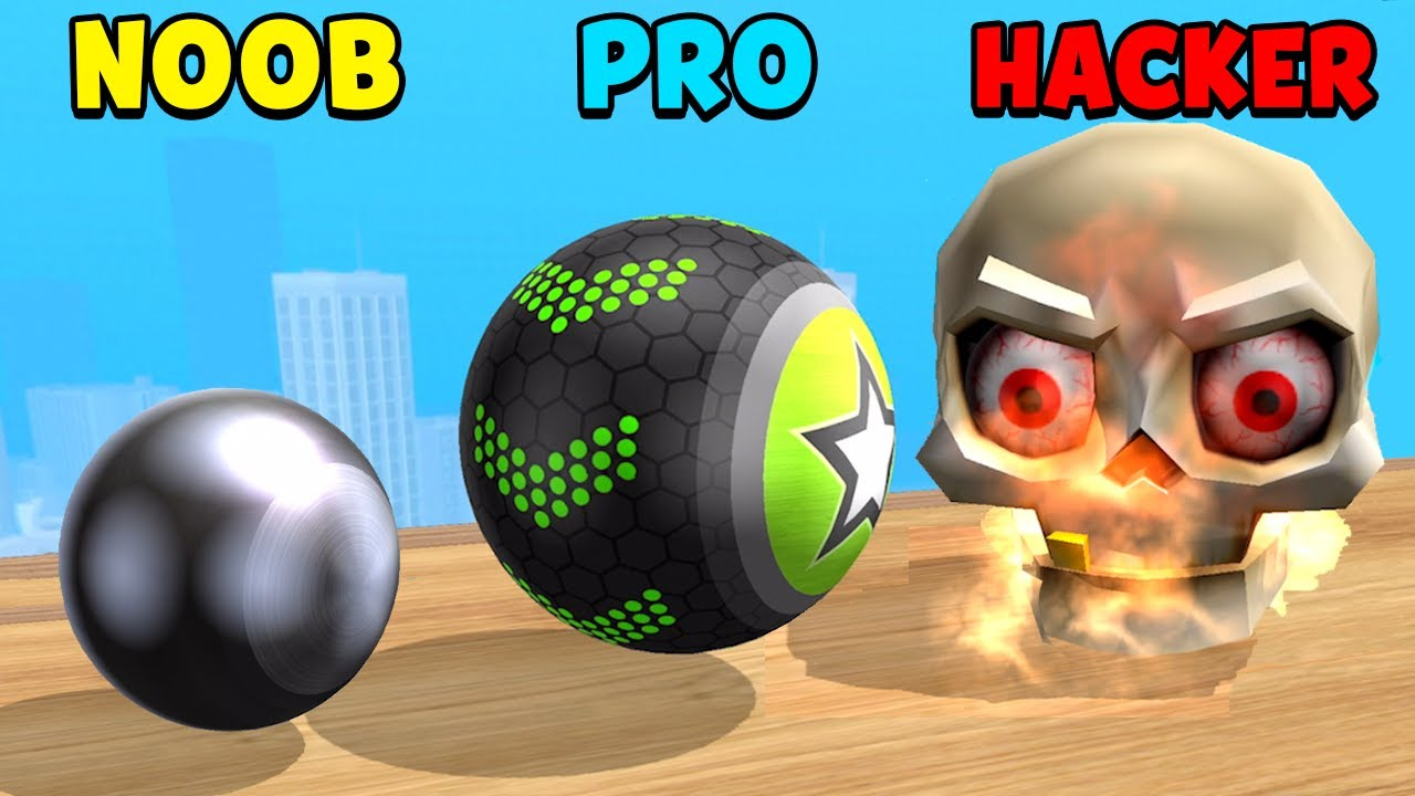 NOOB vs PRO vs HACKER - Going Balls