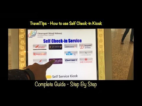 TravelTips - How to use Self Check in Kiosk