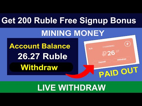 Mining Money.biz – Earn Free Ruble 2020 | Get 200 ruble Signup bonus  live Payment Proof