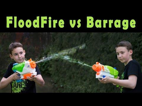 Nerf Super Soaker FloodFire vs Barrage | Magicbiber [deutsch]