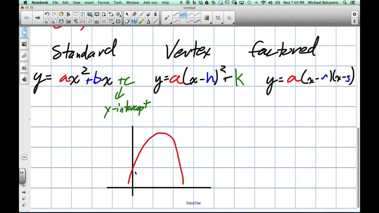 Creating Quadratic Equations From Word Problems Grade 10 Academic Lesson 5 6 5 7 14