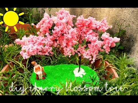 How to do a miniature Cherry blossom tree | DIY with 3 simple materials