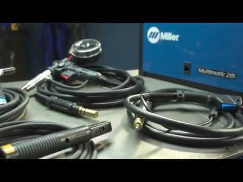 Miller Multimatic 215 >> Miller Multimatic 215 Multiprocess Welder Setup Youtube