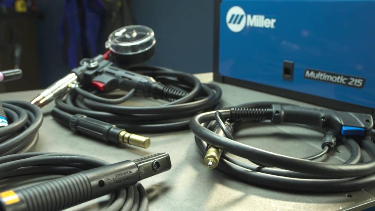 Miller Multimatic 215 >> Miller Multimatic 215 Multiprocess Welder Setup - YouTube