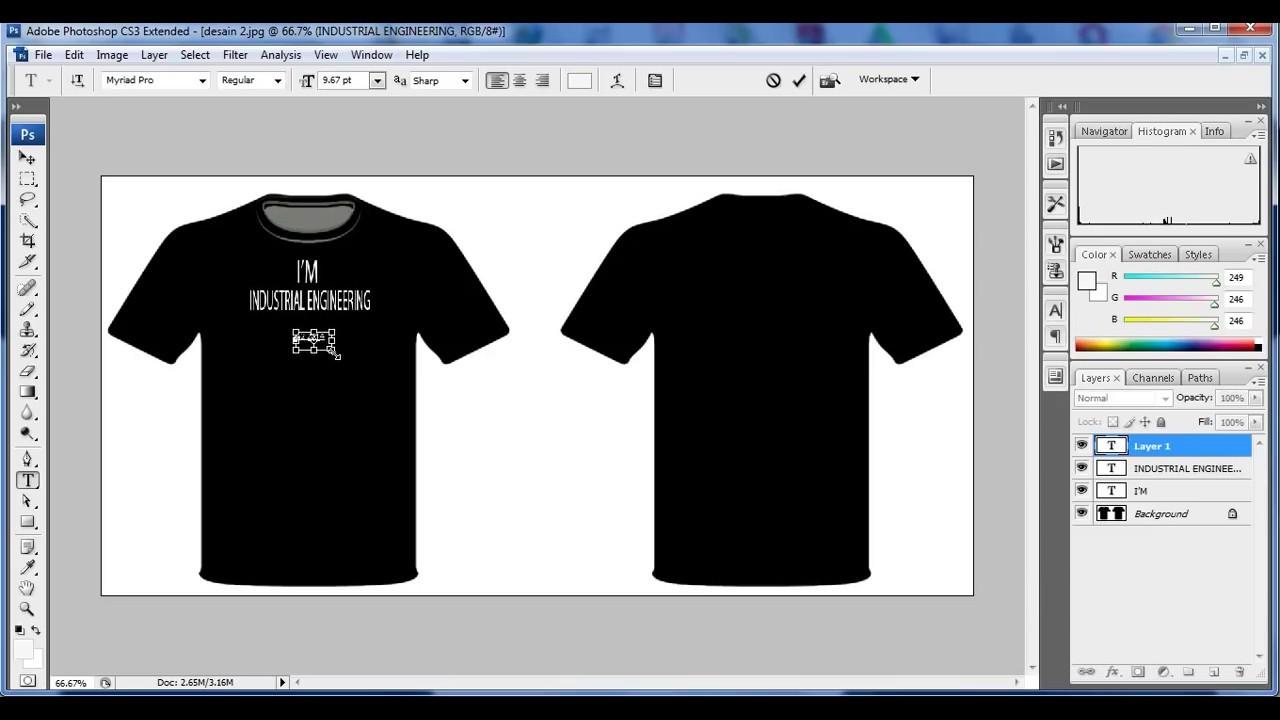 Tutorial Cara Mendisain Baju Dengan Photoshop Cs3 Youtube