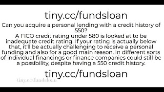 Personal Loan Credit Score 550 >> Credit Loan Information Youtube