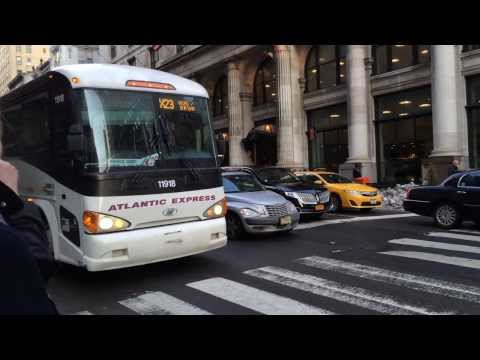 Atlantic Express (Academy) Bus : MCI D4505 #11918 on the X23 at 5th Avenue & 34th Street