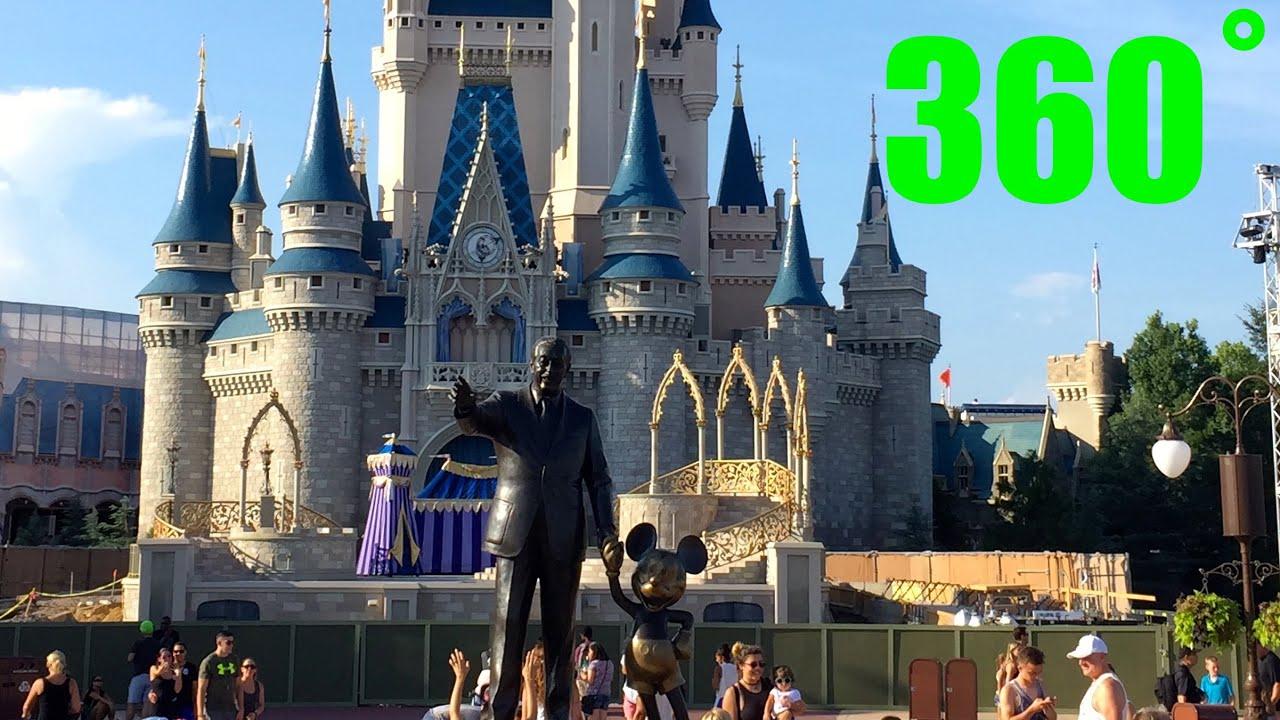 Cinderella\'s Castle 360˚ HD VR Walk Around Magic Kingdom Walt Disney ...