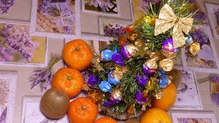 Ёлка из шампанского/Украшение новогоднего стола