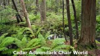 Amish Adirondack Chair  Cedar Adirondack Chair