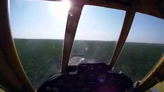 Crop Dusting - Air Tractor 402 Under the Wires.wmv