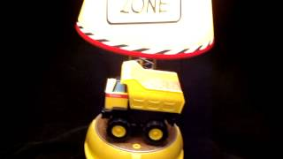 King  Kids Construction Tonka Dump Truck Table Desk Bedroom Lamp W Sound