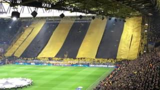 BVB Monaco komplette  Choreo Südtribüne 12.04.17
