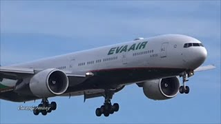 eva air boeing 777 300er new livery kpae paine field