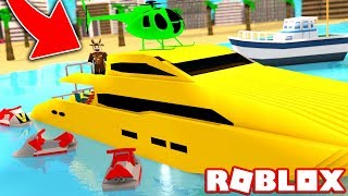 BUYING A $20,000,000 YACHT IN ROBLOX! (Roblox Vehicle Simulator)
