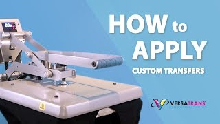 How to Apply our Universal Transfer - Cotton VS Poly - Versatrans®
