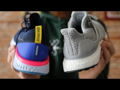 huge selection of b0ebe e3e27 NIKE EPIC REACT FLYKNIT VS ADIDAS ULTRABOOST! WHICH IS BETTER !