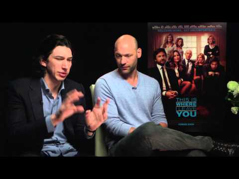 THIS IS WHERE I LEAVE YOU - Adam Driver & Corey Stoll interview