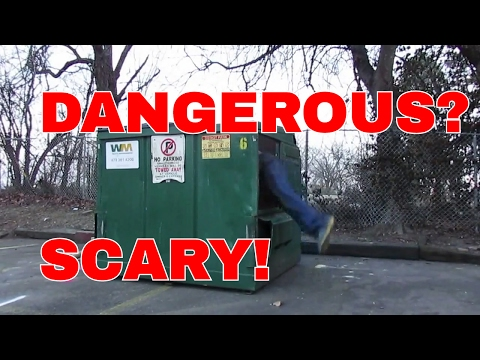 Dumpster Diving Can Be Scary & Maybe Dangerous Scrap Metal Scrapping Scrapper Diver Aluminum Copper