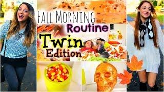 Niki and Gabi's Fall morning routine 2014 | Twin Edition