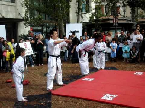 Jackie Chan Martial Arts Demo at Spy Next Door Premier