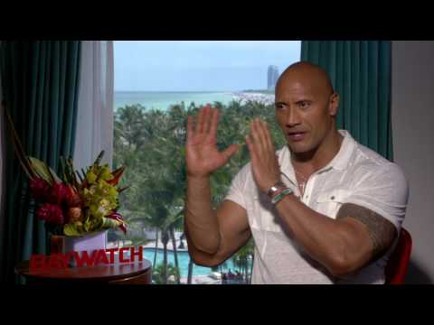 """Baywatch: Dwayne Johnson """"Mitch Buchannon"""" Official Movie Interview"""