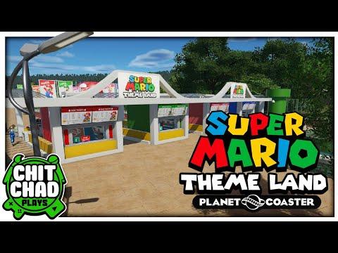 Park Entry Gate | Super Mario Theme Park - Planet Coaster