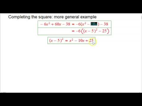 Completing the square (quick general example)